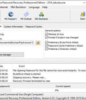 Advanced Office Password Recovery Ekran Görüntüleri - 5