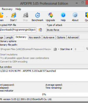 Advanced PDF Password Recovery Ekran Görüntüleri - 3