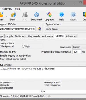 Advanced PDF Password Recovery Ekran Görüntüleri - 4