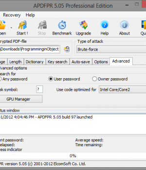 Advanced PDF Password Recovery Ekran Görüntüleri - 5