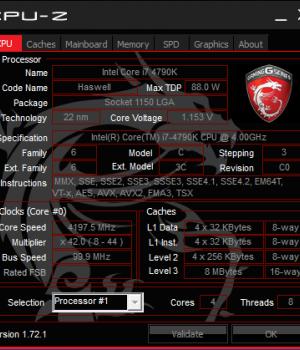 CPU-Z Ekran Görüntüleri - 1
