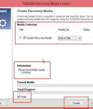 TOSHIBA Recovery Media Creator Ekran Görüntüleri - 3