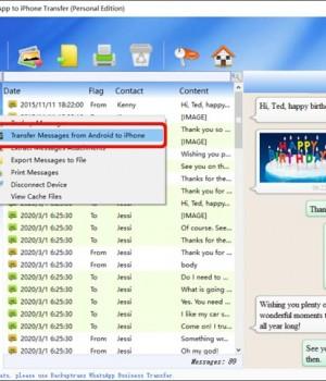 Android WhatsApp to iPhone Transfer Ekran Görüntüleri - 2