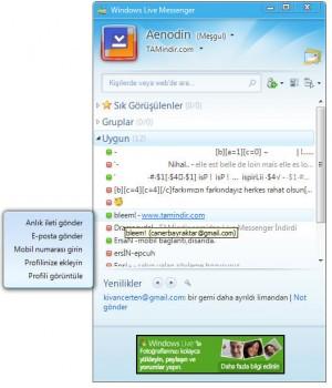 Windows Live Messenger XP Ekran Görüntüleri - 2