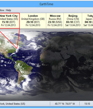 EarthTime Ekran Görüntüleri - 1