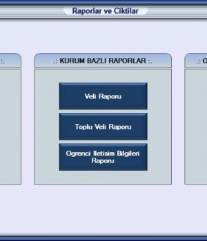 Etüt ve Özel Ders Takip Programı Ekran Görüntüleri - 1