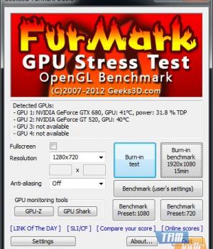 FurMark Ekran Görüntüleri - 1
