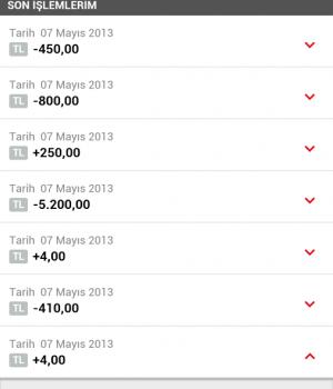 HSBC Mobil Bankacılık Ekran Görüntüleri - 3