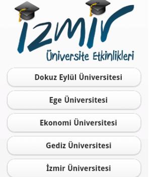 İzmir Üniversite Etkinlikleri Ekran Görüntüleri - 2
