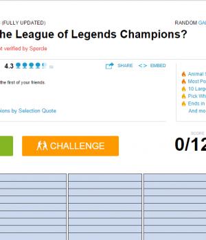 LoL Şampiyon İsimleri Sınavı Ekran Görüntüleri - 3