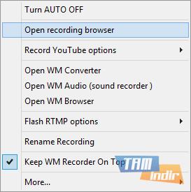 WM Recorder Ekran Görüntüleri - 1