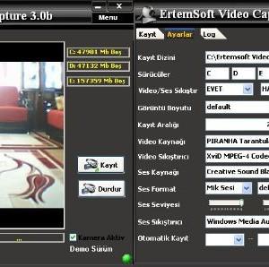 Kamera Kayıt Programı Ekran Görüntüleri - 1