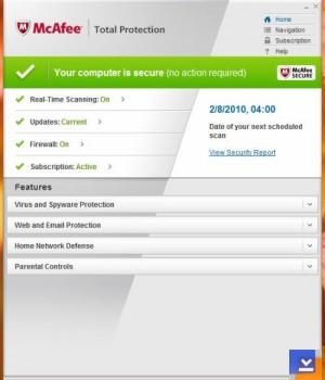 McAfee Total Protection Ekran Görüntüleri - 1
