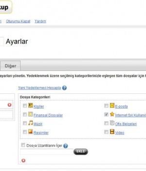 Norton Online Backup Ekran Görüntüleri - 1