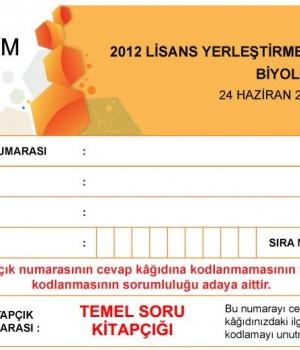 2012 LYS2 Biyoloji Testi Soruları ve Cevapları Ekran Görüntüleri - 1
