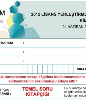 2012 LYS2 Kimya Testi Soruları ve Cevapları Ekran Görüntüleri - 1