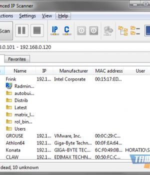 Advanced IP Scanner Ekran Görüntüleri - 1