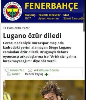Andro Fenerbahçe Haber Ekran Görüntüleri - 1