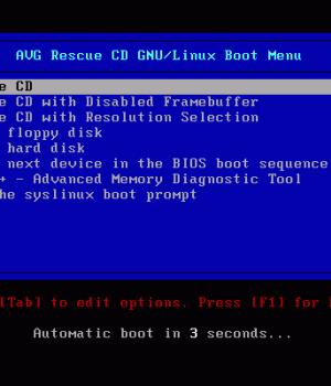AVG Rescue CD Ekran Görüntüleri - 4