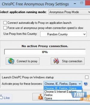 ChrisPC Free Anonymous Proxy Ekran Görüntüleri - 2