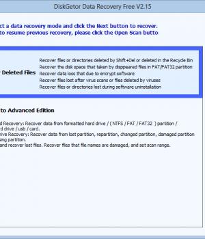 DiskGetor Data Recovery Free Ekran Görüntüleri - 3