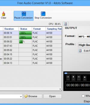 Free Audio Converter 4dots Ekran Görüntüleri - 4