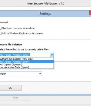 Free Secure File Eraser Ekran Görüntüleri - 1