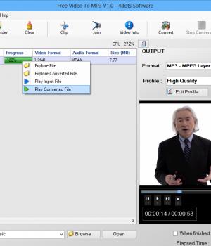 Free Video To MP3 Ekran Görüntüleri - 2
