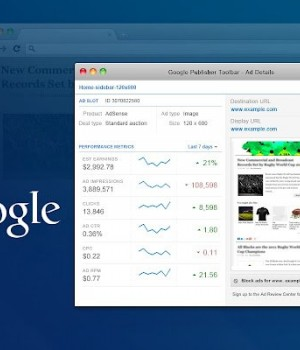 Google Publisher Toolbar Ekran Görüntüleri - 1