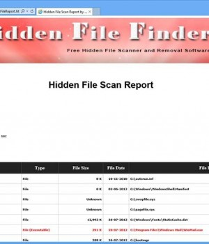 Hidden File Finder Ekran Görüntüleri - 1
