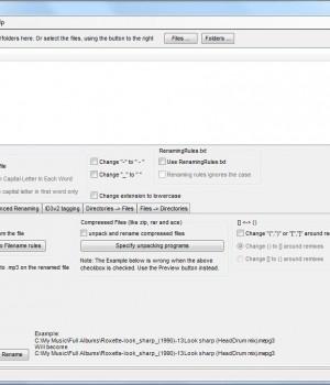 MP3 Rename Ekran Görüntüleri - 1