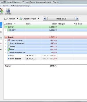 Personal Finances Free Ekran Görüntüleri - 1