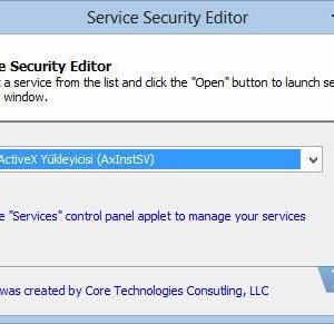 Service Security Editor Ekran Görüntüleri - 3
