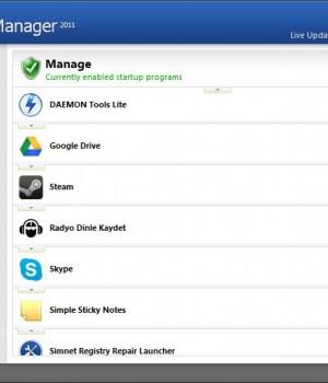 Simnet Startup Manager Ekran Görüntüleri - 1