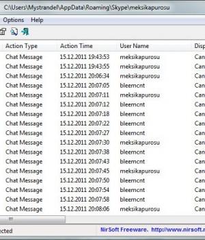 SkypeLogView Ekran Görüntüleri - 1