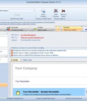 SmartSerialMail Freeware Ekran Görüntüleri - 2