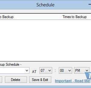 Synei Backup Manager Ekran Görüntüleri - 1