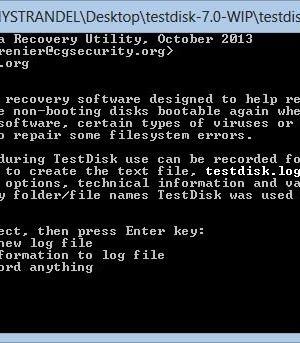 TestDisk & PhotoRec Ekran Görüntüleri - 1