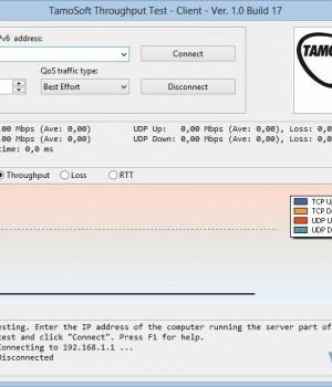 Throughput Test Ekran Görüntüleri - 1