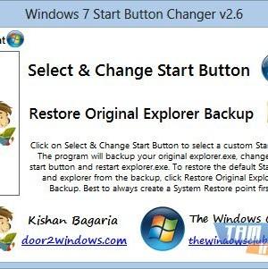 Windows 7 Start Button Changer Ekran Görüntüleri - 1