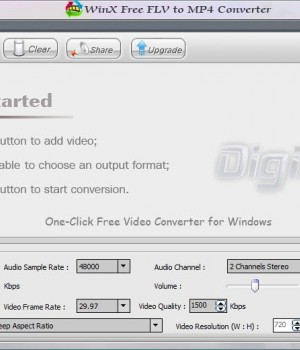WinX Free FLV to MP4 Converter Ekran Görüntüleri - 2