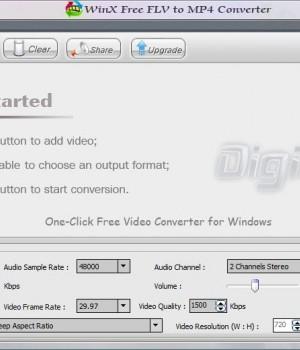 WinX Free FLV to MP4 Converter Ekran Görüntüleri - 1