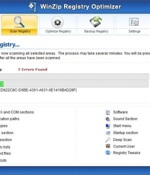 WinZip Registry Optimizer Ekran Görüntüleri - 4