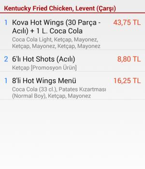 Yemeksepeti Ekran Görüntüleri - 3
