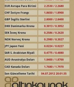 Altın Fiyatları Döviz Kurları Ekran Görüntüleri - 1