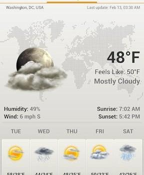 Android Weather & Clock Widget Ekran Görüntüleri - 3
