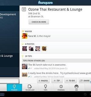 Foursquare for Sony Tablet Ekran Görüntüleri - 1