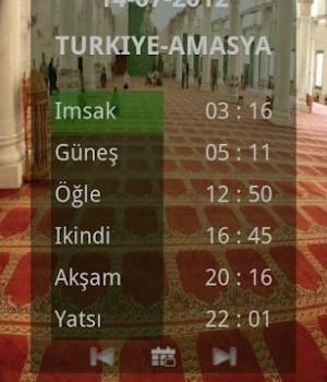 İmsakiye 2012 Ramazan Ekran Görüntüleri - 3