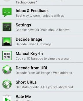 QR Droid Ekran Görüntüleri - 1