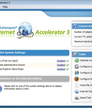 Ashampoo Internet Accelerator Ekran Görüntüleri - 1